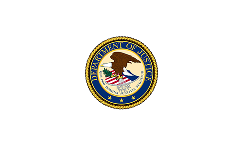 Alpha Omega Customers Department of Justice Seal